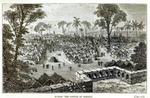 view of kumasi in 1874